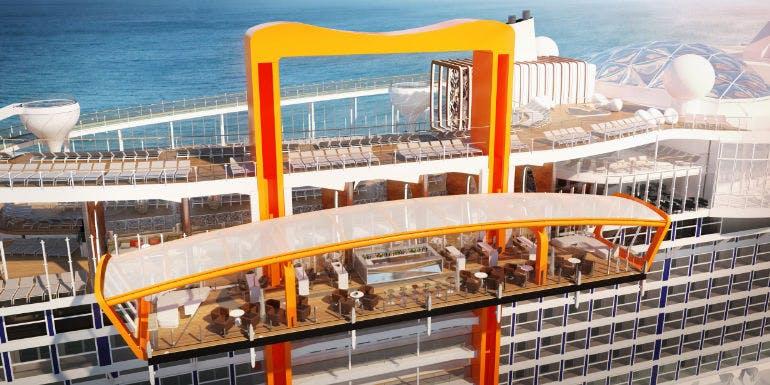 celebrity cruises edge magic carpet outdoors