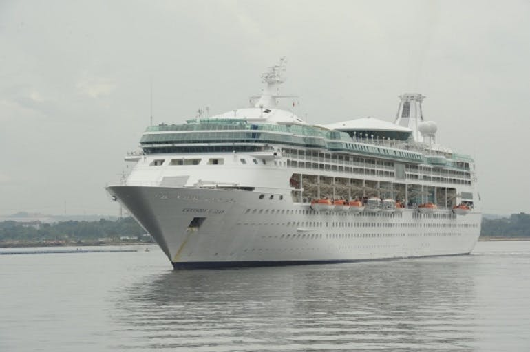Rhapsody of the Seas cruise ship from Royal Caribbean.